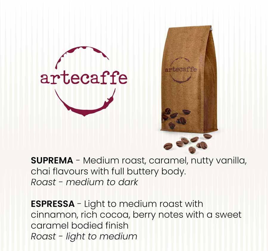 arte caffee Suprema and Espressa